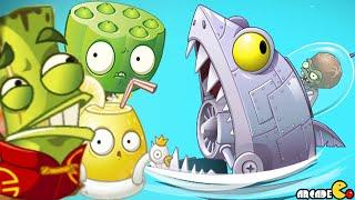 getlinkyoutube.com-Plants Vs Zombies 2: Big Wave Beach Exclusive Plants Vs Zombot Sharktronic Sub!
