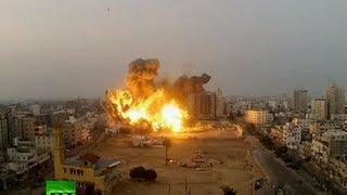 getlinkyoutube.com-Video: Huge blasts in Gaza City as Israel targets Hamas compound