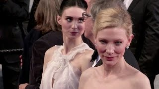 getlinkyoutube.com-Cate Blanchett, Todd Haynes and Rooney Mara going down the red carpet of Carol in Cannes