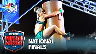 getlinkyoutube.com-Jessie Graff at the National Finals: Stage 1 - American Ninja Warrior 2016