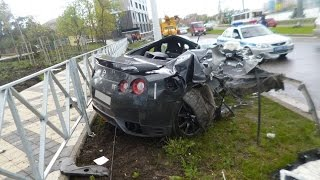 getlinkyoutube.com-Nissan GT-R (r35) Crashes | Аварии Ниссан GT-R (r35) part 2