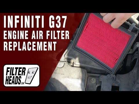 How to Replace Engine Air Filter 2009 Infiniti G37 V6 3.7L