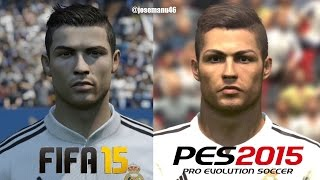 getlinkyoutube.com-FIFA 15 vs PES 2015 REAL MADRID Face Comparison