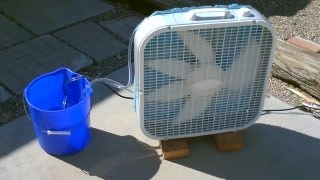"getlinkyoutube.com-Homemade Evaporative Air Cooler! - Simple ""Box Fan"" Conversion - EASY Instructions!"