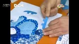 getlinkyoutube.com-Cuadro Navideño con la técnica Patchwork sin agujas