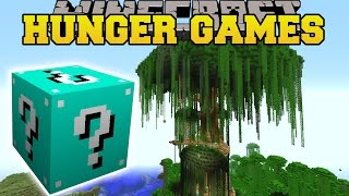 getlinkyoutube.com-Minecraft: JERRY'S TREE HUNGER GAMES - Lucky Block Mod - Modded Mini-Game