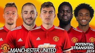 MANCHESTER UNITED - POTENTIAL TRANSFER & RUMOURS SUMMER 2018 | Ft. BENZEMA,DYBALA,UMTITI,WILLIAN... width=
