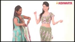 getlinkyoutube.com-How to Drape a Ready Ghagra Style Saree
