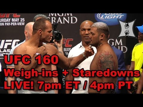 UFC 160: Velasquez vs Bigfoot 2 Weigh-ins + Staredowns (LIVE! / complete + unedited)