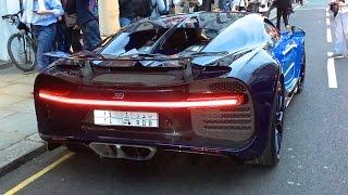 getlinkyoutube.com-Arab Bugatti Chiron SOUND - Start up and Driving in London