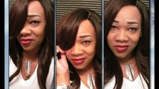 """getlinkyoutube.com-""""Beautiful  Freetress Equal Invisible Part **Clary** Elevate Styles"""