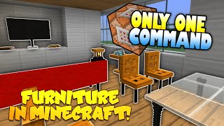 getlinkyoutube.com-Furniture In Minecraft | NO MODS! | Only One Command Block (One Command Creation)