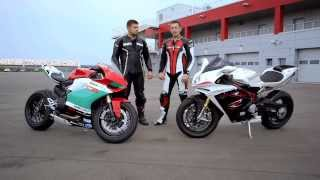 getlinkyoutube.com-2013 Ducati 1199 Panigale vs. 2013 MV Agusta F4RR