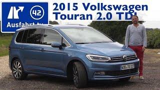 getlinkyoutube.com-2015 VW Volkswagen Touran 2.0 TDI - Fahrbericht der Probefahrt, Test, Review (German)