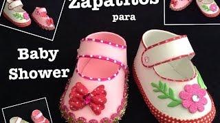 getlinkyoutube.com-ZAPATITOS DE NIÑA  PARA BABY SHOWER CON FOAMY  O GOMA EVA .