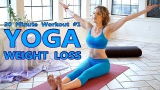 getlinkyoutube.com-Yoga For Weight Loss & Flexibility Day 1 Workout - Fat Burning 20 Minute Beginners Class