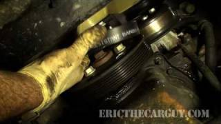 getlinkyoutube.com-How To Replace a Serpentine Belt - EricTheCarGuy