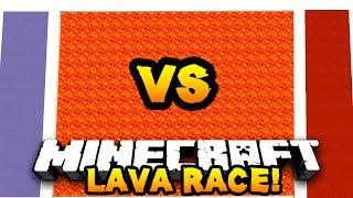 getlinkyoutube.com-Minecraft RED vs BLUE LAVA RACE! #1 w/ PrestonPlayz & Vikkstar123