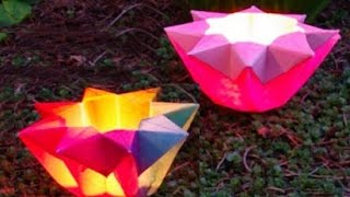 getlinkyoutube.com-Origami Easy - Star Lantern - Origami Flower Lantern - Ideas for Valentine's day