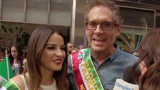 getlinkyoutube.com-Maite y Arath fueron los invitados de honor en el desfile mexicano en Nueva York