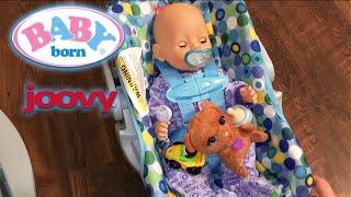 getlinkyoutube.com-Baby Born Flynn's New Joovy Doll Car Seat