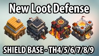 getlinkyoutube.com-Clash of Clans Loot Defense Strategy for Every Town Hall New Shield Base for Farming TH 4/5/6/7/8/9