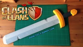 getlinkyoutube.com-How to Create a Clash of Clans Barbarian King Sword