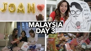 Malaysia Vlog #3   Opening Gifts & Tasting Malaysian Snacks 😋