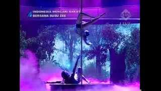 getlinkyoutube.com-Yohanna Harso Pole Dance and Aerial Silk - Tarzan and Jane