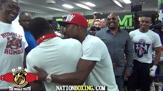 getlinkyoutube.com-(YOU WONT BELIEVE THIS) BRONER INVADES PORTERS WORKOUT AND MAYWEATHER BREAKS THEM UP