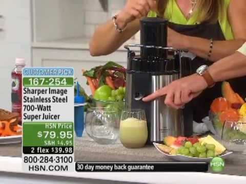 Sharper Image Stainless Steel 700-Watt Super Juicer