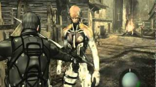 getlinkyoutube.com-Resident Evil 4 Mod Leon vs Raiden - The Mask vs Ganado