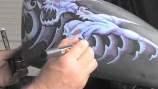 getlinkyoutube.com-How Blacklining with Poscas brings Motorcycle Tank Painting to LIFE by Drew Brophy
