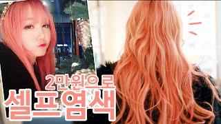 getlinkyoutube.com-[ENG] 셀프염색! 2만원으로 혼자서 자몽핑크로 변신! Self Pink Hair DYE  | Hanbyul