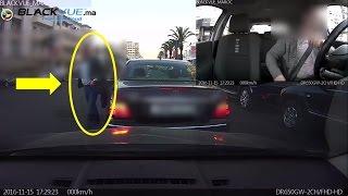 خطيييييرر: سائق ينتحل صفة رجل أمن، يشتم و يتلاعب بحياة سائق أخر بالدارالبيضاء ...