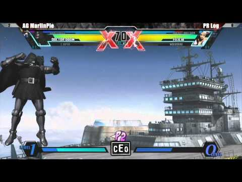 Is MarlinPie FORREAL?!?!?! UMVC3 MCZ AG MarlinPie vs PR Rog - CEO 2012 Tournament