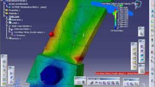 catia video tutorial FEM analysis