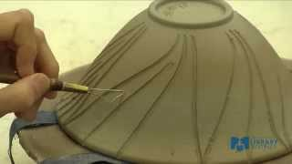 getlinkyoutube.com-Learn To Make a Pottery Bowl: Part 4 Carving