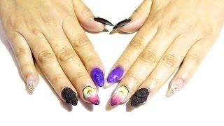getlinkyoutube.com-TUTORIAL: Diseño De Uñas Colorido 🌈