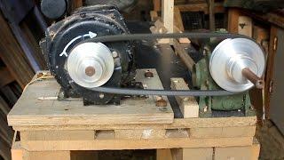 getlinkyoutube.com-Home-made Tools - Woodturning Lathe. Pallets & Washing Machine Motor Bricolaje torno