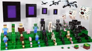 getlinkyoutube.com-LEGO Minecraft Mobs | Custom LEGO Minecraft Display