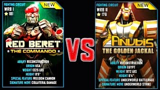 getlinkyoutube.com-Real Steel WRB RED BERET VS ANUBIS NEW Robot updating (Живая Сталь)