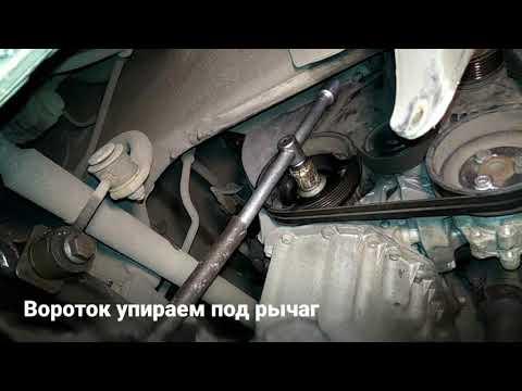 Как открутить шкив коленвала Skoda Octavia Tour 1.4 bca