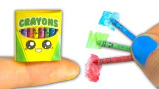 getlinkyoutube.com-Miniature kawaii crayons (actually work) and box tutorial DIY ❤ - YolandaMeow♡