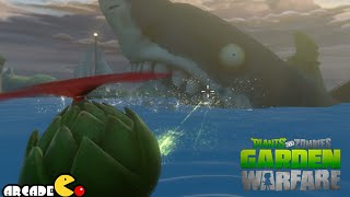 getlinkyoutube.com-Plants vs. Zombies: Garden Warfare - The Giant Shark Zombie in Port Scallywag - PVZ Garden Warfare