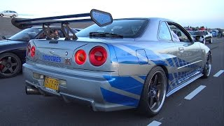 getlinkyoutube.com-Nissan Skyline R34 GT-T - Burnout & Accelerations!