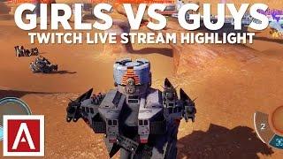 getlinkyoutube.com-Girl Squad vs Guy Squad Gameplay - War Robots Live Stream Highlights [Twitch]