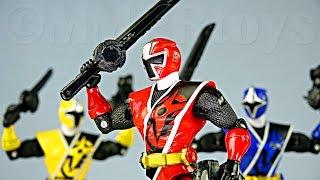 getlinkyoutube.com-Ninninger 5 inch Action Heros! (Power Rangers 5 inch Figures Ninja Steel!)