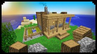 getlinkyoutube.com-✔ Minecraft: How to make a Starter House (Wood and Cobblestone)