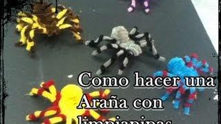 getlinkyoutube.com-como hacer una araña con limpiapipas